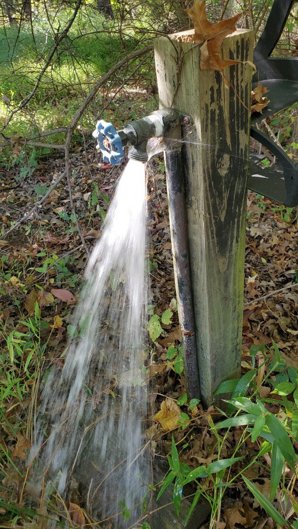 Winterize hose faucet attached to sprinkler line
