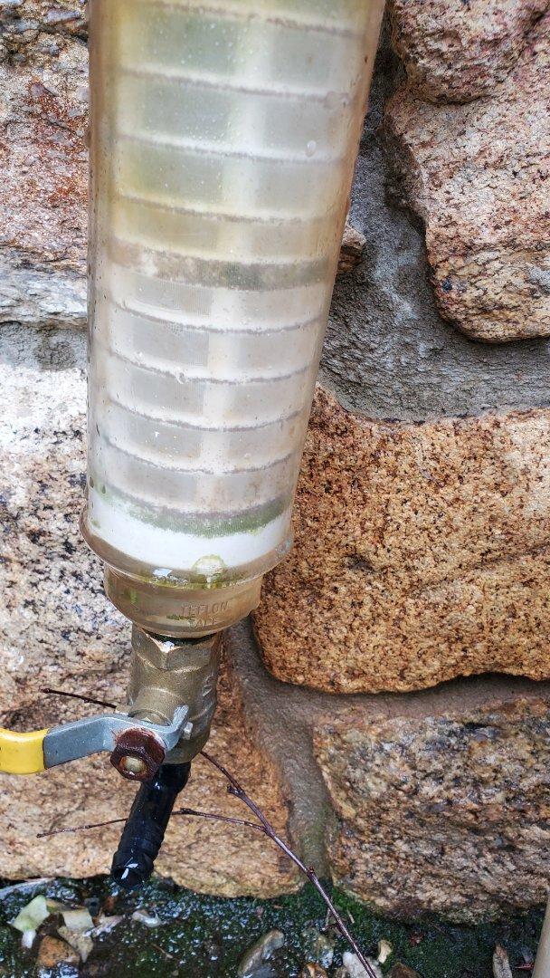 Winterize sprinkler system and drain filter