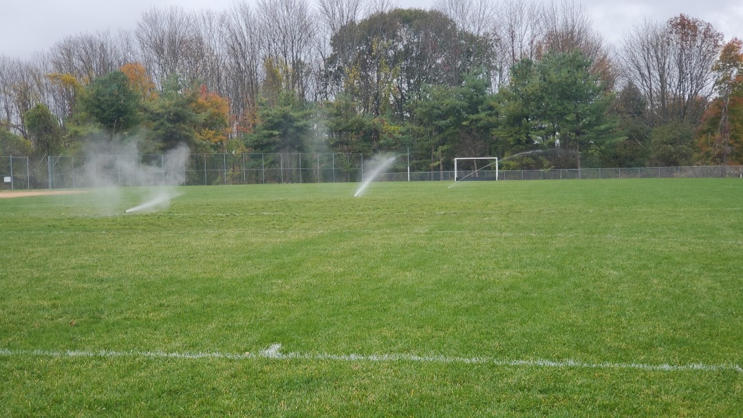 Winterize sprinkler system and school baseball field