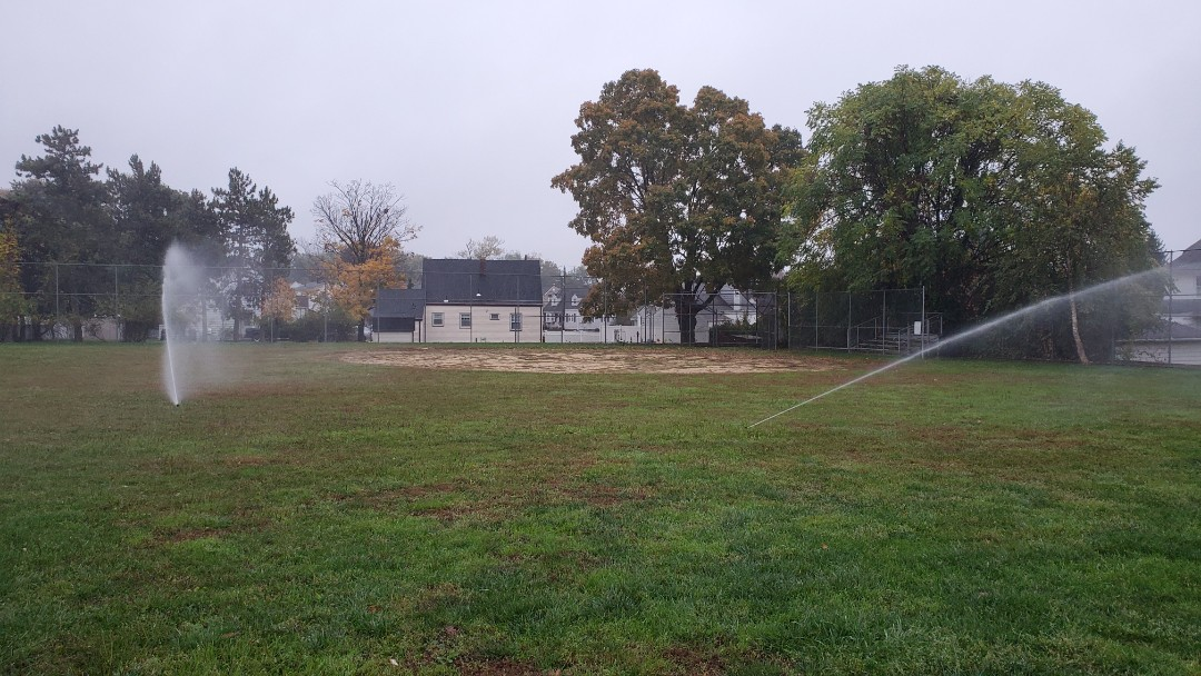 Winterize ball field at a school
