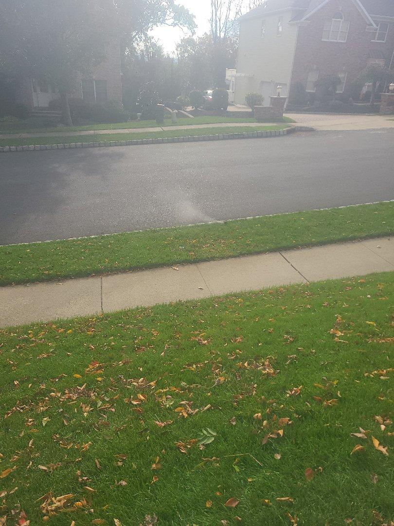 Wayne, NJ - Winterize sprinkler irritation system. Blow out. Drain out. Shut down.