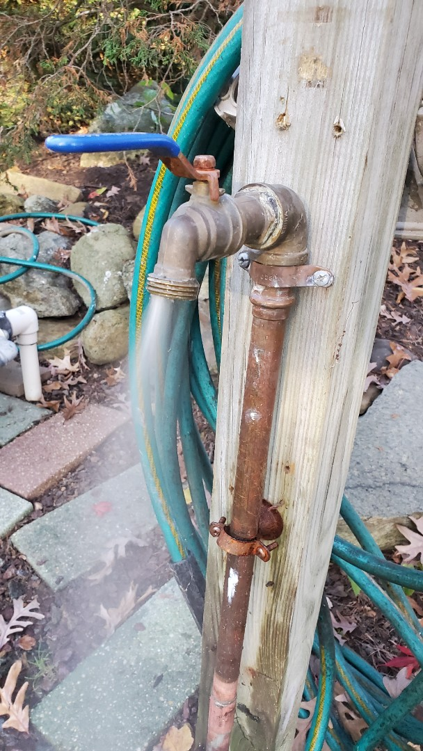 Winterize irrigation system and faucet attached to main line