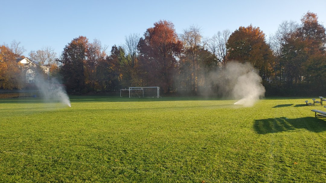 Winterize irrigation system at school
