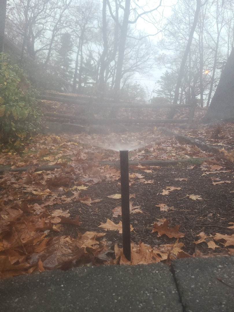 Boonton, NJ - Winterize sprinkler irritation system. Blow out. Drain out. Shut down.