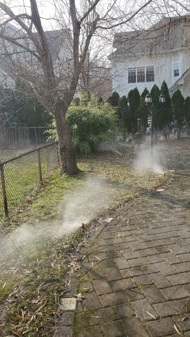 Shut down sprinkler system for the winter