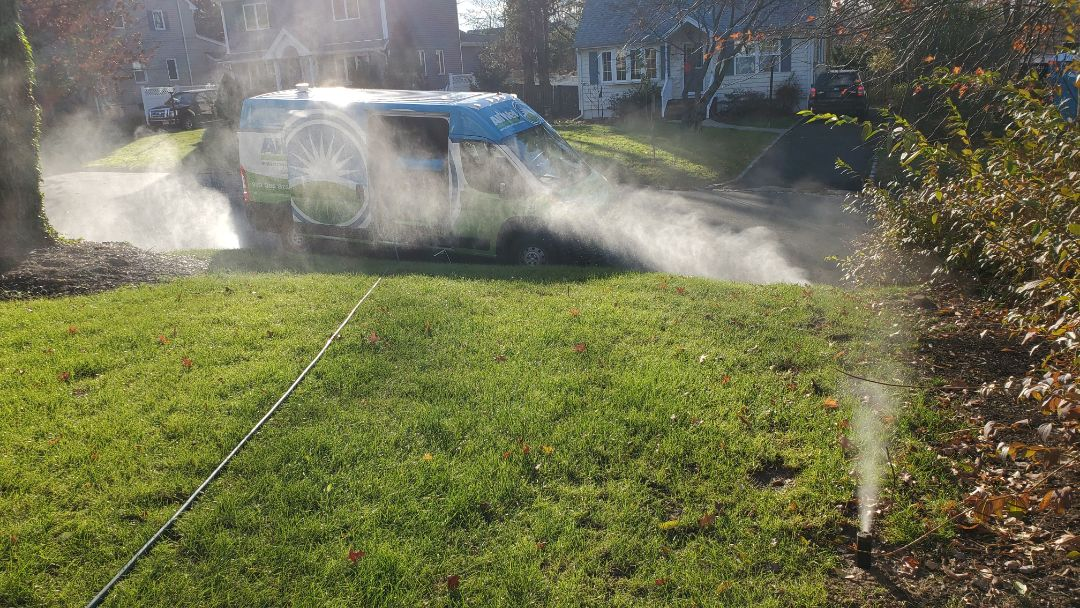Clear out irrigation lines