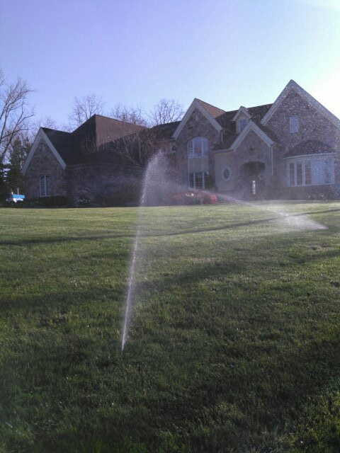 Lebanon, NJ - Starting up the irrigation system. Programmed the Hunter timer. In Lebanon NJ