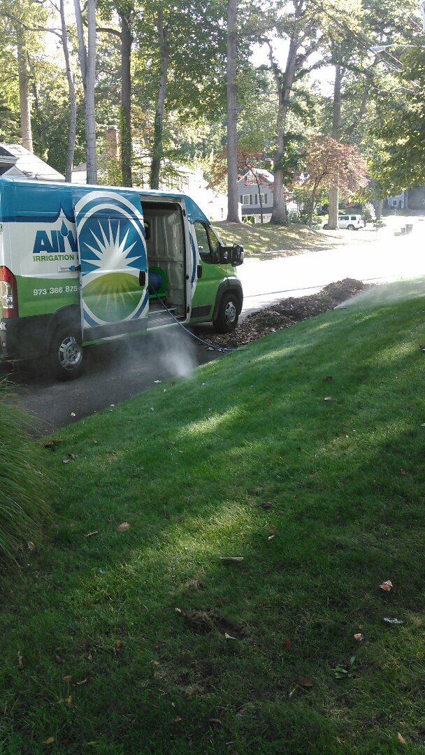 Rutherford, NJ - Completed winterization of irrigation system