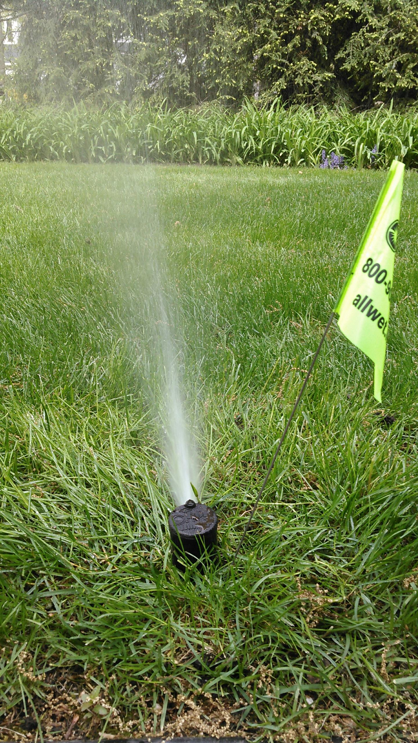 Wyckoff, NJ - Start up the irrigation system. Replaced broken rotary head