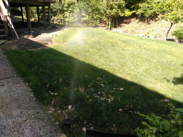 Watchung, NJ - Started up sprinkler system,ran and checked system with customer,adjusted heads,customer resets clock himself