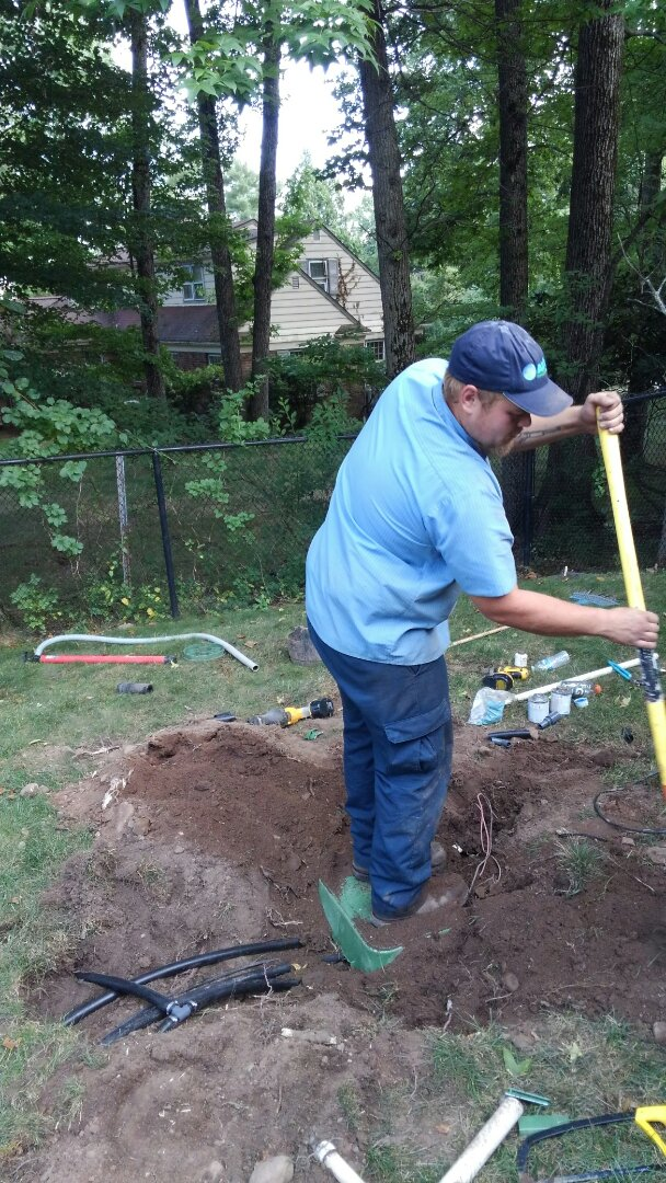 Lafayette Township, NJ - Upgrade the rear lawn irrigation system with new valves and sprinkler heads