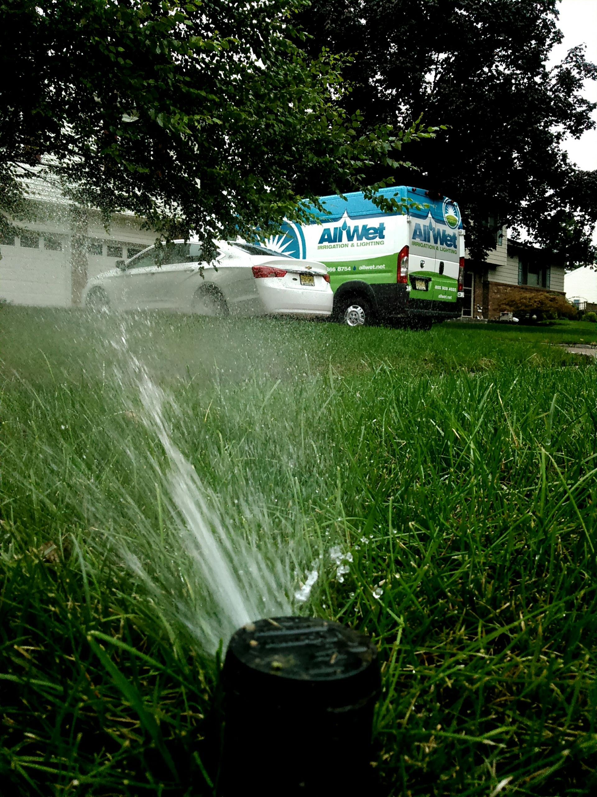 Mountainside, NJ - Mid season sprinkler service, adjust time on zones for better watering during the summer