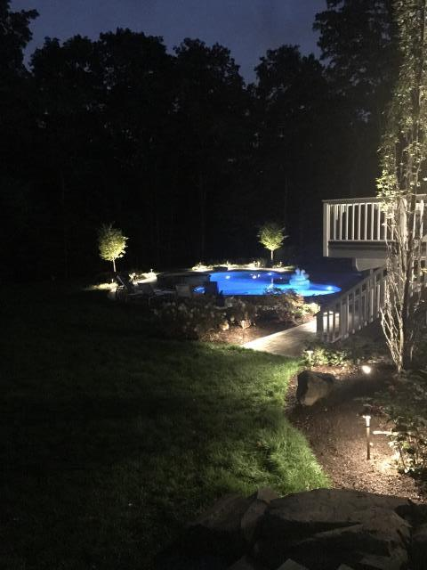 Lafayette Township, NJ - Install new LED landscaping outdoor lighting system.