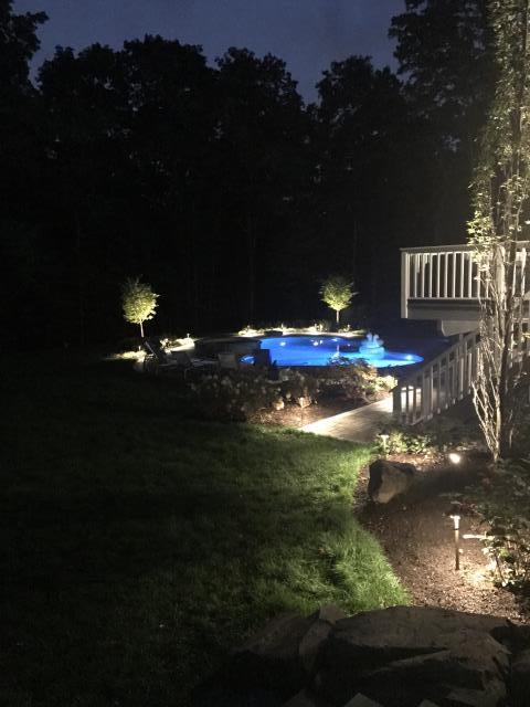 Califon, NJ - Install new LED landscaping outdoor lighting system.