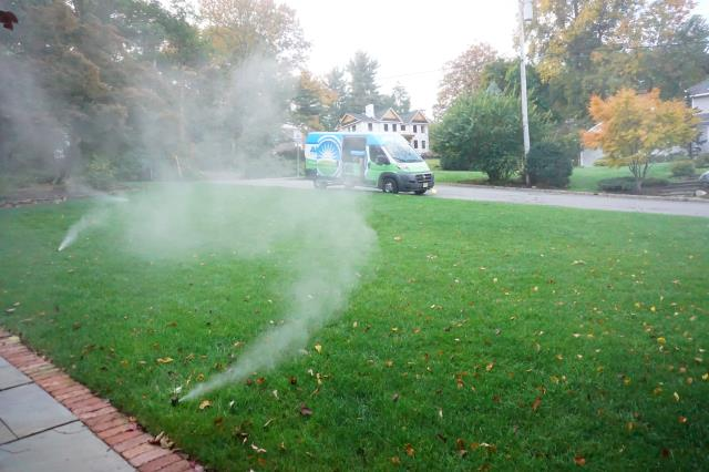 Bayonne, NJ - Start thinking about when to winterize sprinkler system.