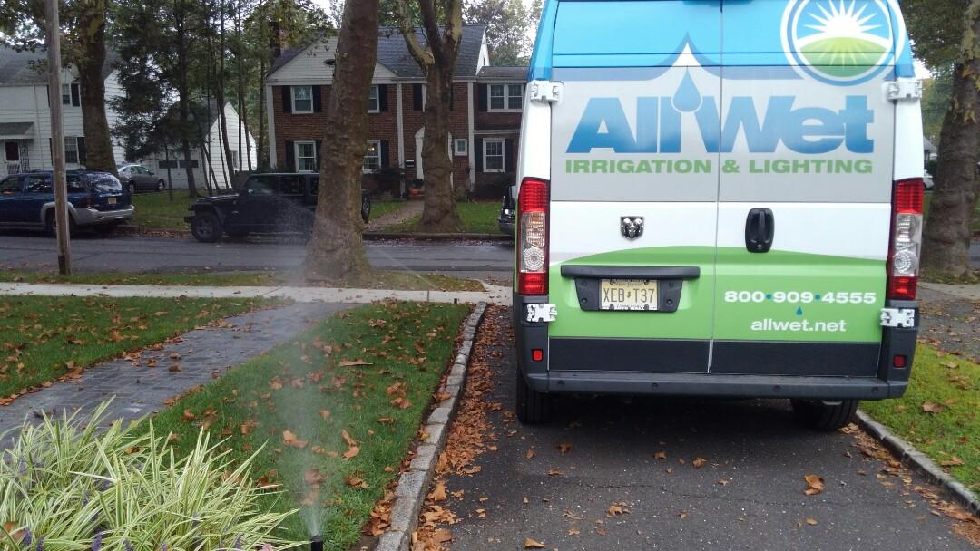 Cedar Grove, NJ - Mid season irrigation check up. Lower run times for fall conditions