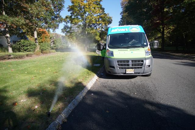 Scotch Plains, NJ - Getting ready to winterize lawn blow outs.