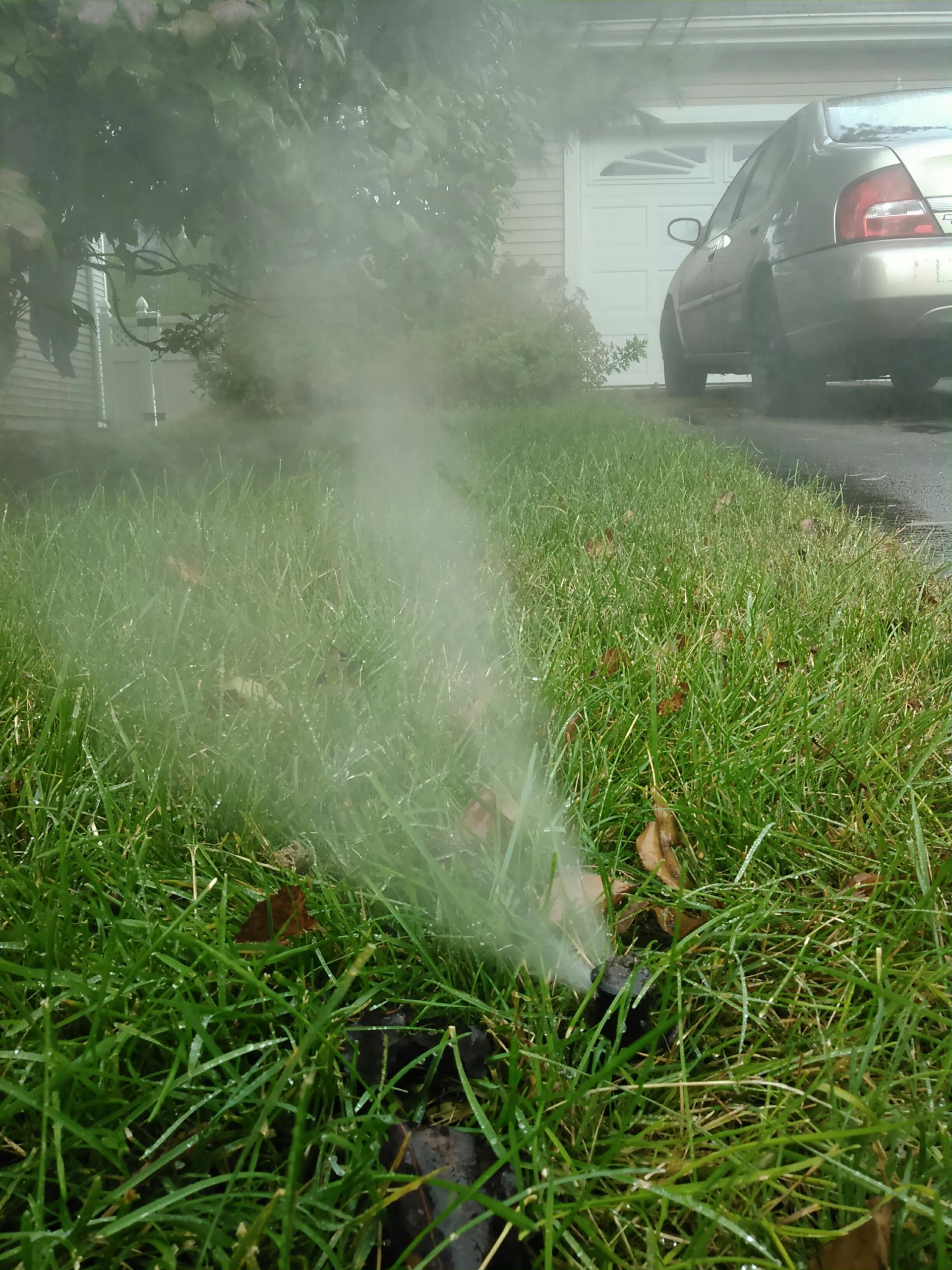 Jefferson, NJ - Blow out water of sprinkler lawn irrigation system