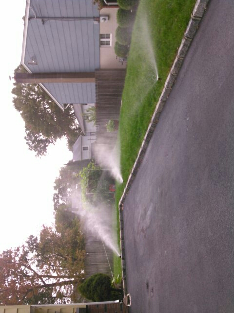 Parsippany, NJ - Winterization the sprinkler system,water and clock are off,please do not turn on water for the sprinkler system