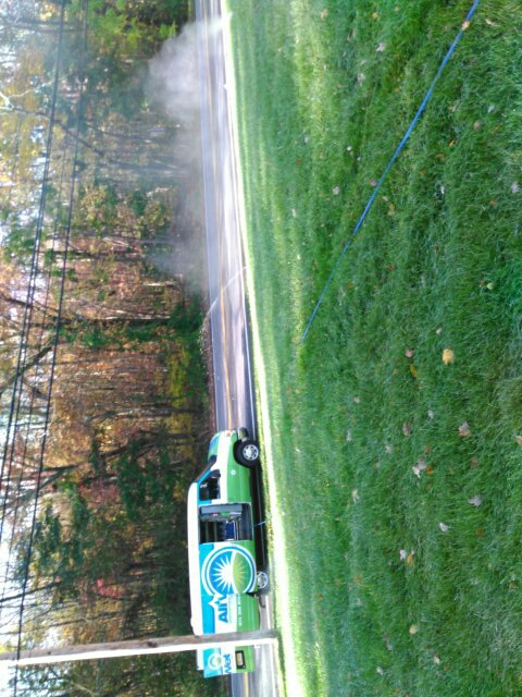 Lincoln Park, NJ - Blow out the the sprinkler system for winter