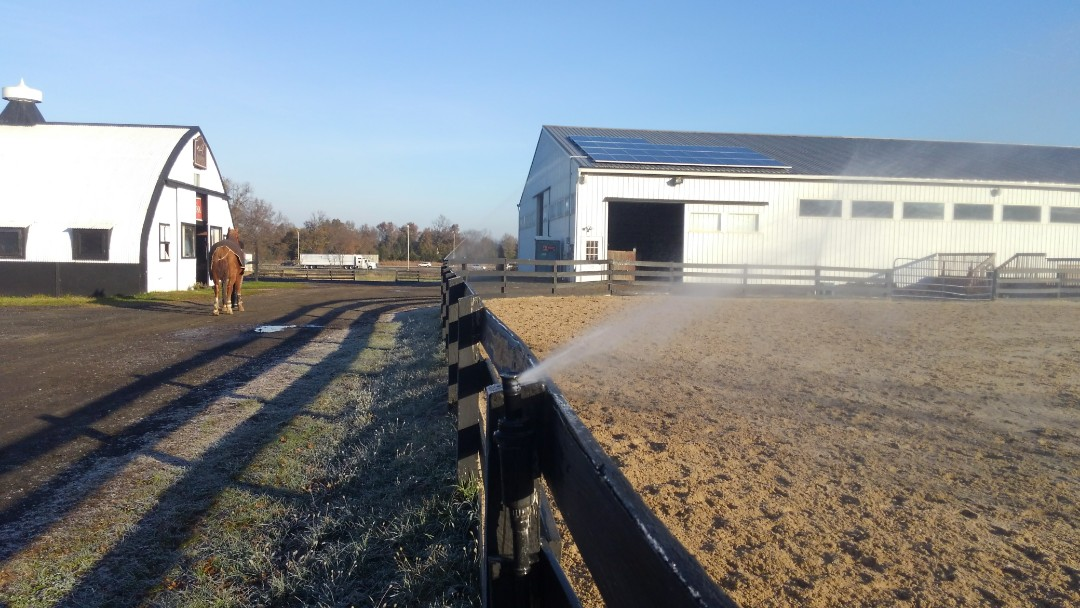 Bridgewater, NJ - Winterizing sprinklers for a horse stable