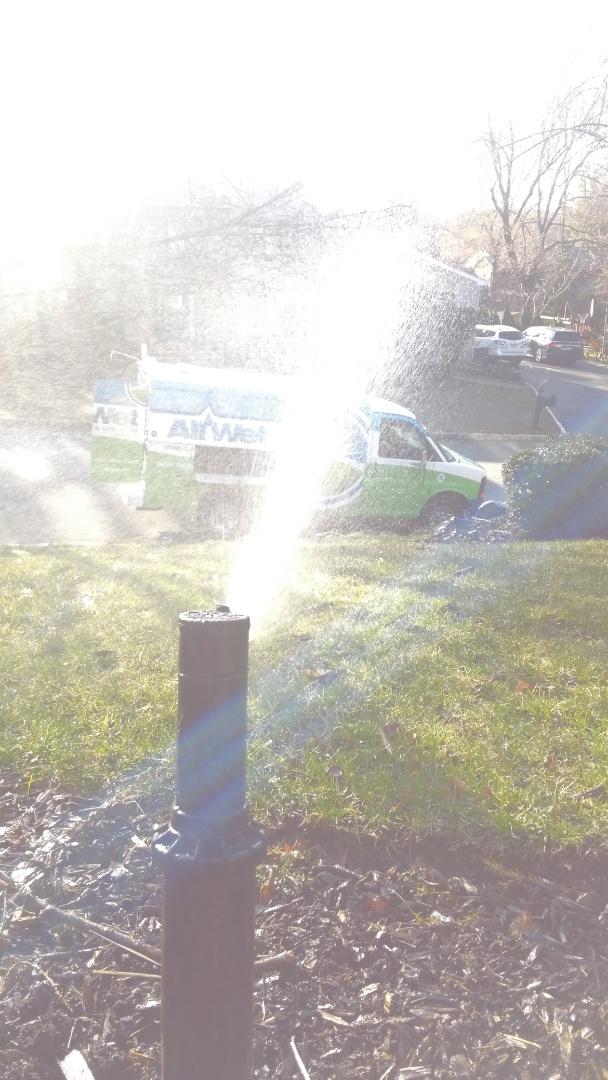 Essex Fells, NJ - Starting up a 7 zone sprinkler system.