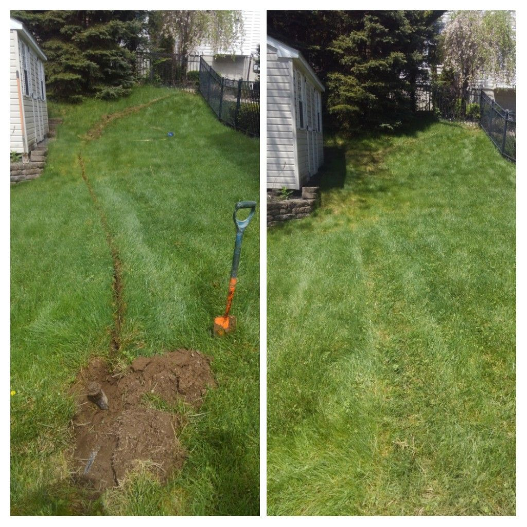 Totowa, NJ - Added mp spray heads for better coverage. Before and after