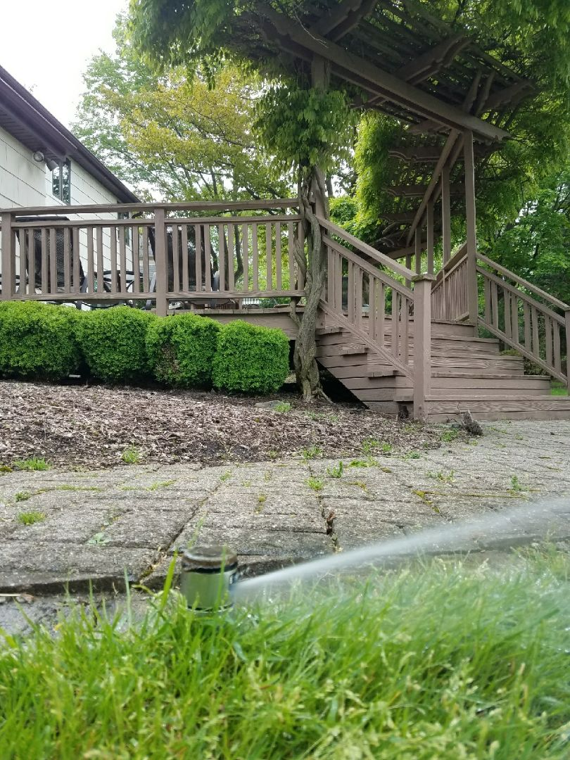North Caldwell, NJ - Starting irrigation system and replace spray head