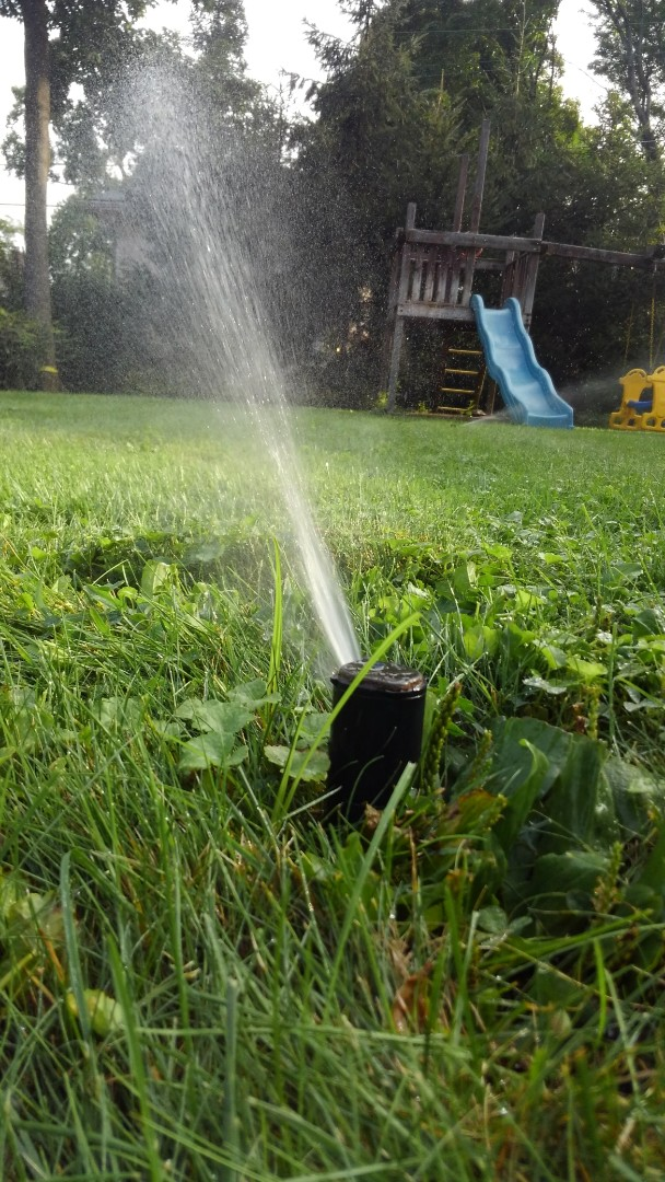 Bedminster Township, NJ - Mid season check-up, tired of looking at a dry, brown lawn call All wet Irrigation the professionals who will make the lawn greener than ever before.