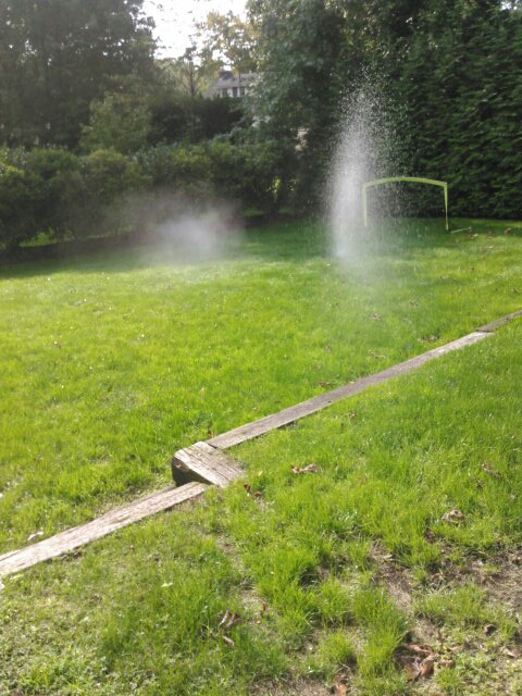 Maplewood, NJ - Winterized sprinkler system,water and clock are off