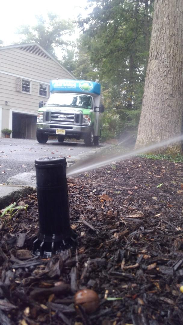 Essex Fells, NJ - Winterization of the irrigation systems