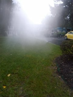 Dover, NJ - 7 zone sprinkler system blow out to start the weekend; Berkeley Heights Winterizes!!!