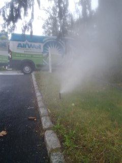 Dover, NJ - 7 zone sprinkler system being blown out; Berkeley Heights Winterizes!!!