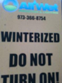 Berkeley Heights, NJ - Well designed 10 zone sprinkler system winterized!