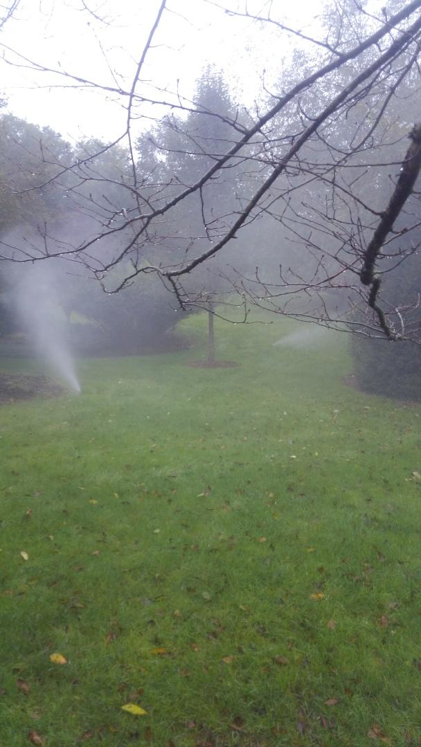 Gladstone, NJ - Blowing out sprinkler lines.
