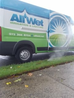 Mount Olive Township, NJ - 8 station sprinkler system being blown out; Randolph Winterizes!!!
