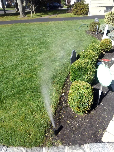 Westfield, NJ - Winterization of the irrigation system