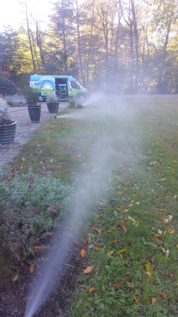 Kinnelon, NJ - Winterize sprinkler system and drip lines