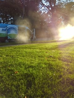 Parsippany-Troy Hills, NJ - 31 zone sprinkler blow out to start the day; Montclair Winterizes!!!