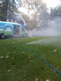 Parsippany-Troy Hills, NJ - 7 zone sprinkler blow out to start the day; Short Hills Winterizes!!!