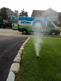 Parsippany-Troy Hills, NJ - 8 station sprinkler system being blown out; Whippany Winterizes!!!