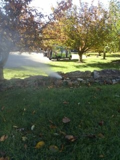 Hackettstown, NJ - 5 zone sprinkler system being blown out; Long Valley Winterizes!!!