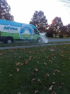 Washington Township, NJ - 25 zone sprinkler blow out in the making; Long Valley Winterizes =]