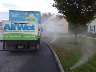 Cedar Grove, NJ - Fall sprinkler system blow out