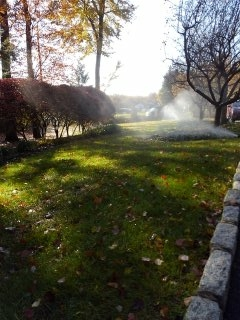 Boonton, NJ - 11 zone sprinkler system being blown out; Boonton Winterizes!!!