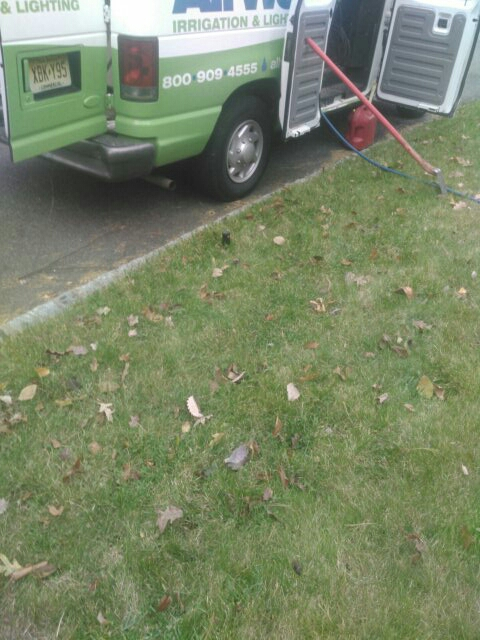 Caldwell, NJ - Winterizing sprinkler systems and doin repairs