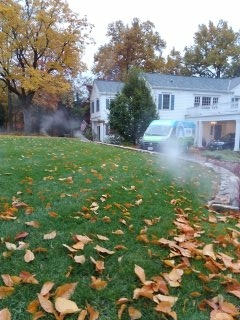 Parsippany-Troy Hills, NJ - 13 zone sprinkler system being blown out; Morristown Winterizes!!!