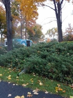 Morristown, NJ - 8 zone sprinkler system being blown out; Morristown Winterizes!!!
