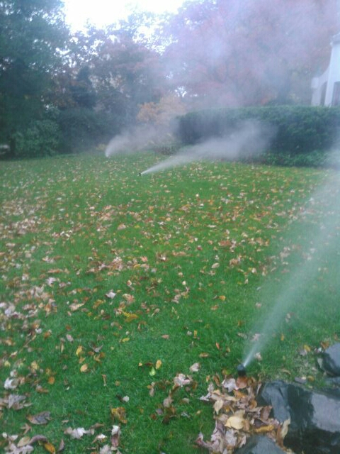 Summit, NJ - Winterizing sprinkler systems and doin repairs