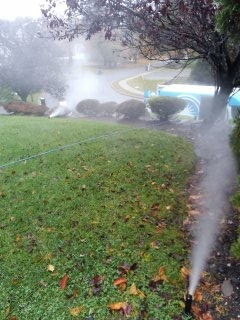 Livingston, NJ - 7 zone sprinkler system being blown out; west Orange Winterizes!!!